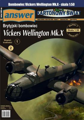 1/13  *  Brytyjski bombowiec Vickers Wellington Mk.X (1:50)   *   Answer  KS