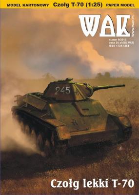 WAK-098   *  9\13   *   Czold lekki  T-70(1:25)