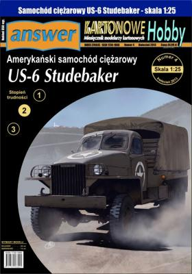 040   *   7\13    *  Amerykanski samochod ciezarowy US-6 Studebaker (1:25)   *   Answer  KH