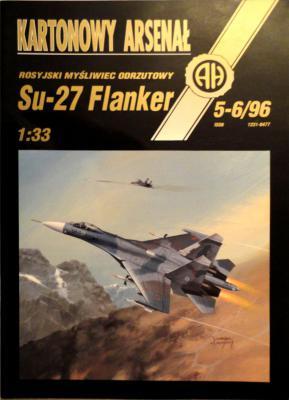 """15    *   5-6\96   *   Rosyjski mysliwiec odrzutowy """"SU-27 Flanker"""" (1:33)     *     HAL"""