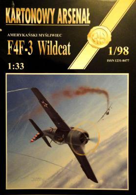 """24    *   1\98    *   Amerykanski mysliwiec """"F4F-3 Wildsat"""" (1:33)      *      HAL"""