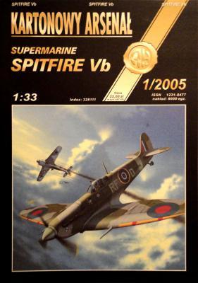 """47   *   1\05     *    Supermarine """"Spitfire Vb"""" (1:33)      *      HAL"""