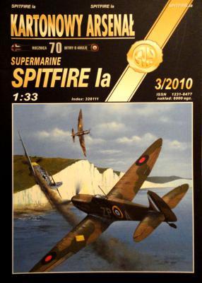 "68   *   3\10    *    Supermarine ""Spitfire Ia"" (1:33)      *        HAL"