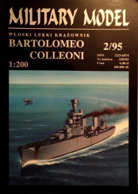 002   *   2\95    *    Wloski lekki krazownik Bartolomeo Colleoni (1:200)     *     HAL *   MM