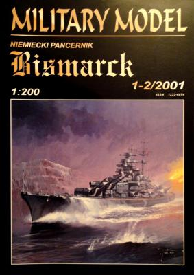 "011   *  1-2\01    *    Niemiecki pancernick ""Bismarck"" (1:200)      *      HAL *  MM"