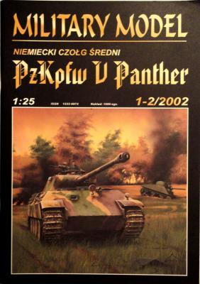 "012   *  1-2\02     *      Niemiecki czolg spedni ""PzKpfw V Panther"" (1:25)       *     HAL *  MM"