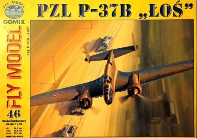 """GOM-046      *      PZL P-37B """"LOS"""" (1:33)"""