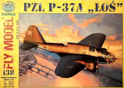 """GOM-138    *    PZL P-37 A """"LOS"""" (1:33)"""