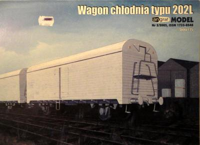 003   *  2\05    *    Wagon chlodnia typu 202L (1:25)    *   ANGR
