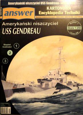 """014     *    1\06      *       Amerykanski niszczyciel """"USS Gendreau"""" - (1:250)      *     ANSWER    AET"""