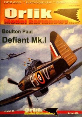 009          *           Boulton Paul Defiant Mk.I (1:33)        *     ORL