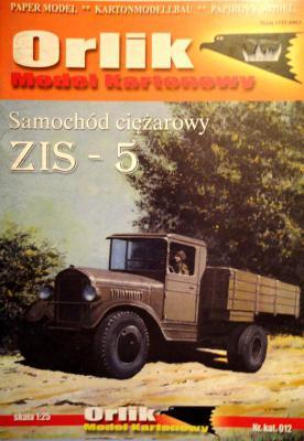 012            *             Samochod ciezarowy ZIS-5 (1:25)        *      ORL