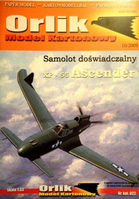 022             *                Samolot doswiadczalny XP-55 Ascender (1:33)       *      ORL