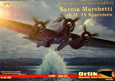 038            *               Savoia Marchetti S.M. 79 Sparviero (1:33)      *     ORL