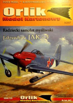 042              *               Radziecki samolot mysliwski Jakowlew JAK-3 (1:33)       *     ORL