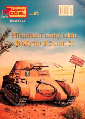 4\00   *   Niemiecki czolg lekki PzKpfw I Ausf.A (1:25)       *        SUPER
