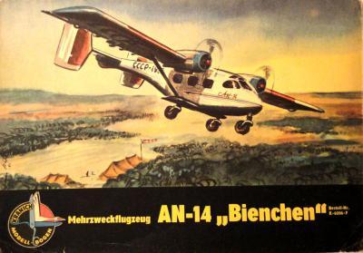 """04   *   Mehrzweckflugzeug AN-14 """"Bienchen""""       *     KRAN"""