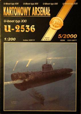 33*  5\00   *    U-boot typ XXI U-2536 (1:200)     *       HAL