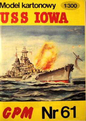 061  *  USS Iowa (1:300)         *       GPM-J