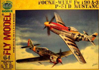 GOM-064   *      Focke-Wulf Fw 190 A-3, P-51 D Mustang (1:33)