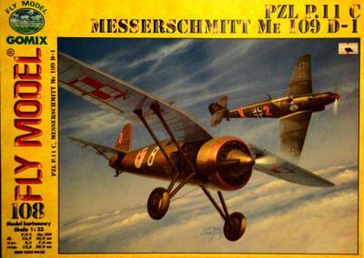 GOM-108     *    PZL P.11 C & Messerschmitt Me 109 D-1 (1:33)