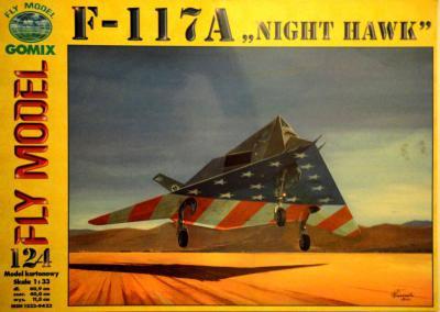 """GOM-124     *    F-117A """"Night Hawk"""" (1:33)"""