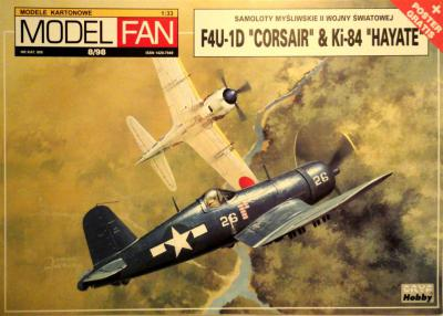 "08      *    8\98   *   F4U -1D Corsair & Ki-84 ""Hayate"" (1:33)       *      M-FAN"