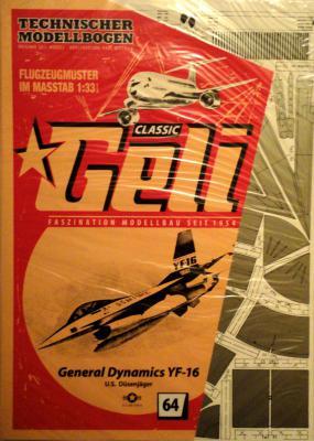 064    *     General Dynamics YF-16 (1:33)    *   GELI