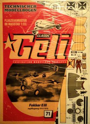 071   *     Fokker E III (1:33)    *   GELI