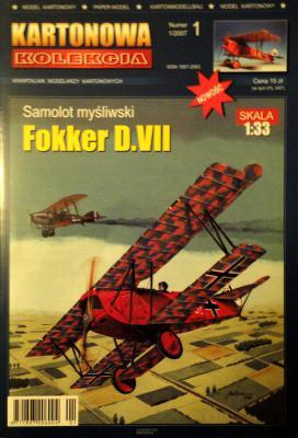 01      *    1\07    *   Samolot mysliwski Fokker D.VII (1:33)   *   KART-KOL