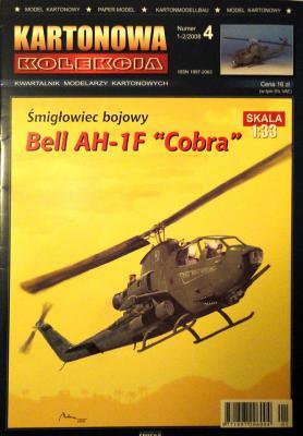 "04   *    1-2\08   *  Smiglowiec bojowy Bell AH-1F ""Cobra"" (1:33)    *    KART-KOL"