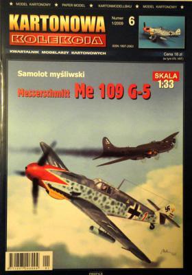 06     *   1\09   *  Samolot mysliwski Messerschmitt Me 109 G-5 (1:33)     *     KART-KOL
