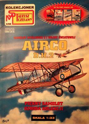 3\98   *   Samolot mysliwski z i wojny swiatowej Airco D.H.2       *      SUPER