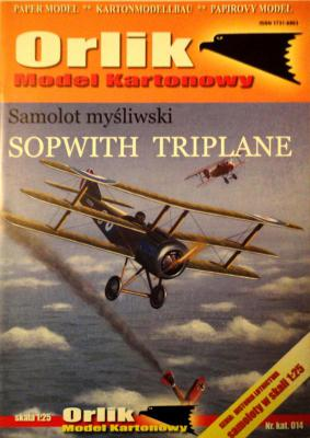 014               *                Samolot mysliwski Sopwith Triplane (1:25)        *      ORL