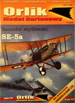 020            *             Samolot mysliwski SE-5a (1:25)        *       ORL