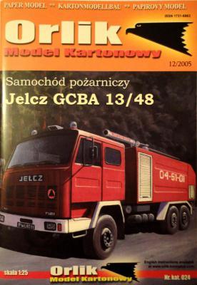 024            *               Samochod pozarniczy Jelcz GCBA 13/48 (1:25)       *     ORL