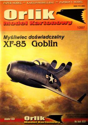 037              *                 Mysliwiec doswiadczalny XF-85 Goblin (1:33)       *       ORL