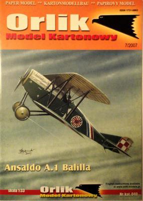 040         *           Ansaldo A.1 Ballila (1:33)       *     ORL