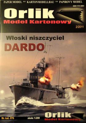 076             *                 Wloski niszczyciel Dardo (1:200)   *   ORL