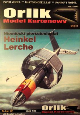 081            *            Niemiecki pierscienioplat Heinkel Lerche (1:33)     *    ORL