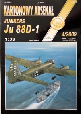 65    *   4\09    *    Junkers JU 88D-1  (1:33)      *      HAL