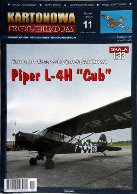 """11     *   1-2\11   *   Piper L-4H """"Cub"""" (1:33)     *    KART-KOL"""