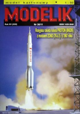 MOD-305     *    30\11    *     Proton (8K82K) z modulem Zond (7K-L1) 1967 roky (1:50)