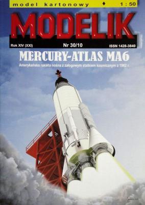 MOD-273     *   30\10     *  Mercury-Atlas MA6 (1:50)