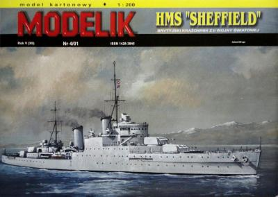 "MOD-047    *    4\01   *    HMS ""Sheffield"" (1:200)"