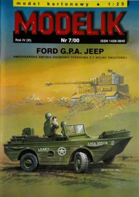 MOD-042        *     7\00    *    Ford G.P.A. Jeep (1:25)