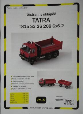 027        *        Tatra T815 S3 26 208 6*6.2 (1:32)       *     RIP