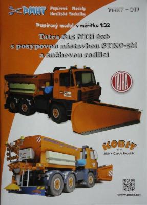017         *           Tatra 815 NTH 6*6 s posypovou nastavbou SYKO-5M a snehovou radlici(1:32)   *   PMHT