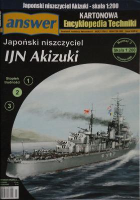 016    *      3\06        *        IJN Akizuki (1:200)     *     ANSWER    AET