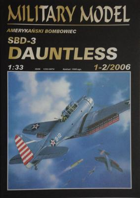 023          *     1-2\06    *     SBD-3 Dauntless (1:33)     *     HAL *  MM